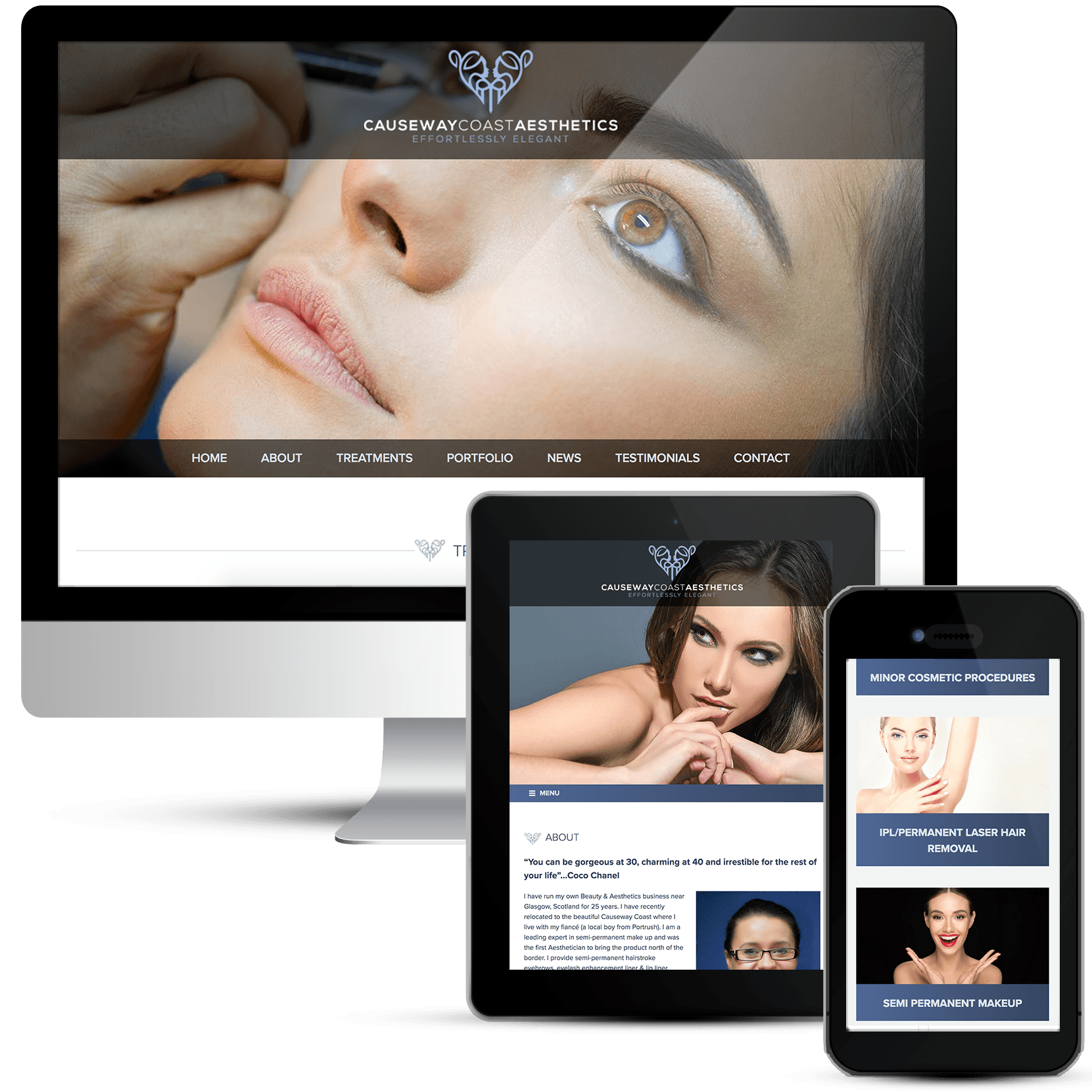 Beauty salon responsive web design on Wordpress
