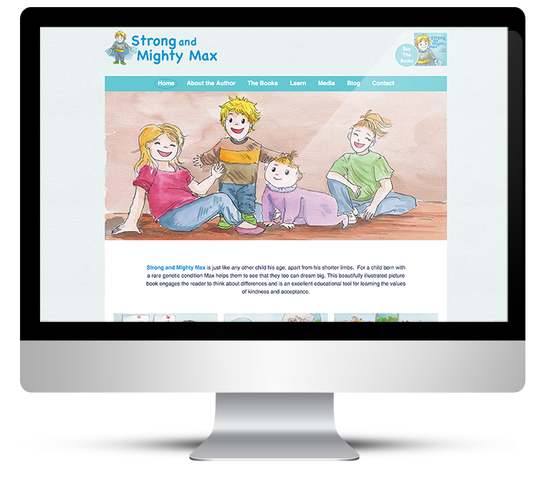 Bespoke WordPress design for childrens author