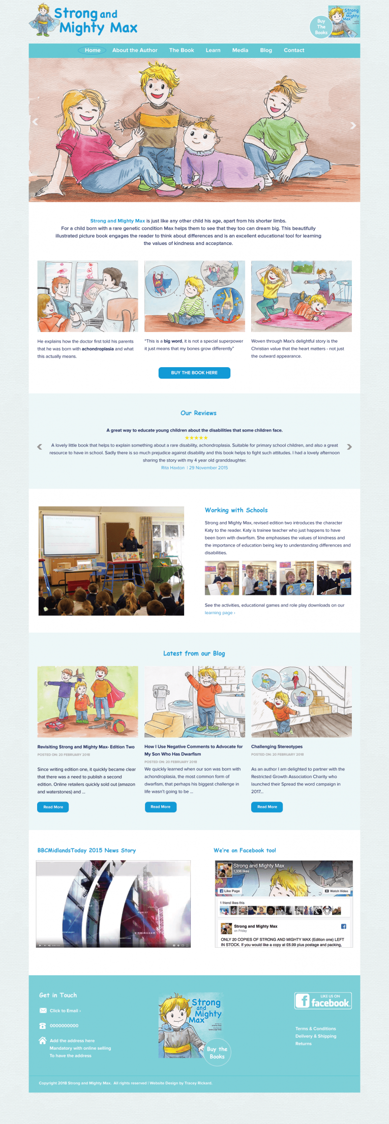 Children's author home page design