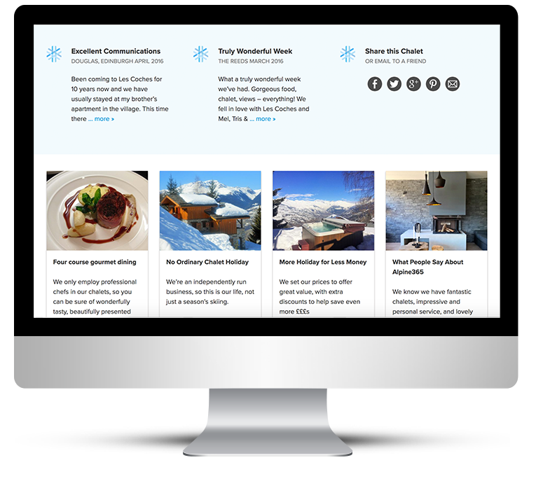 Custom WordPress design for Ski Chalets in France