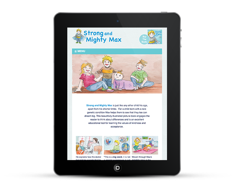 Responsive web design for chldrens author