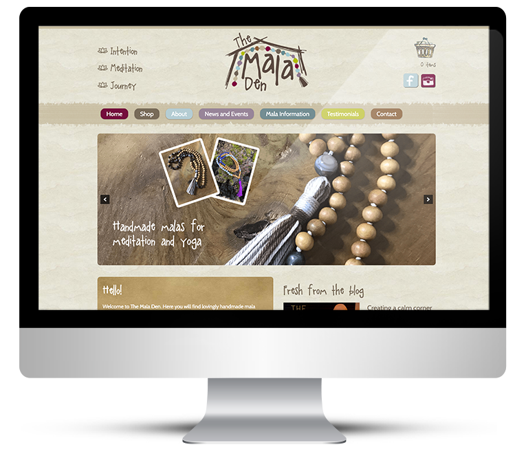 Beauiful eCommerce Web Design for the Mala Den