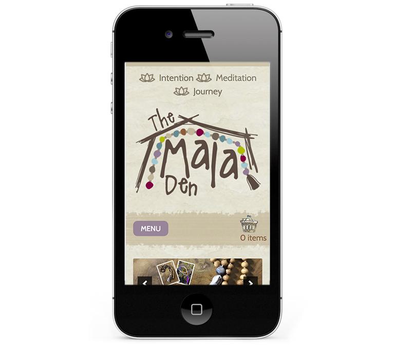 Mala Den Web Design on Smartphones and iPhones