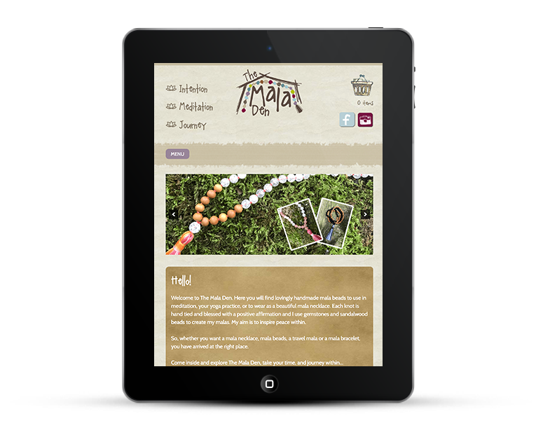 Responsive web design for the Mala Den online store