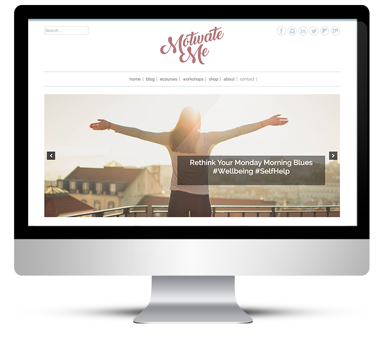 Custom WordPress Design for Motivate Me Academy