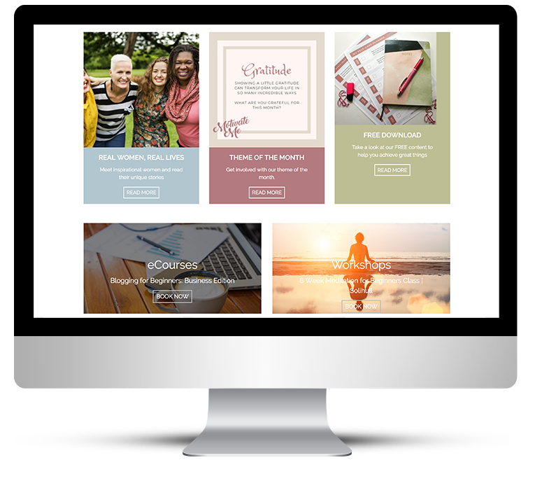Freelance web design for Motivate Me Academy