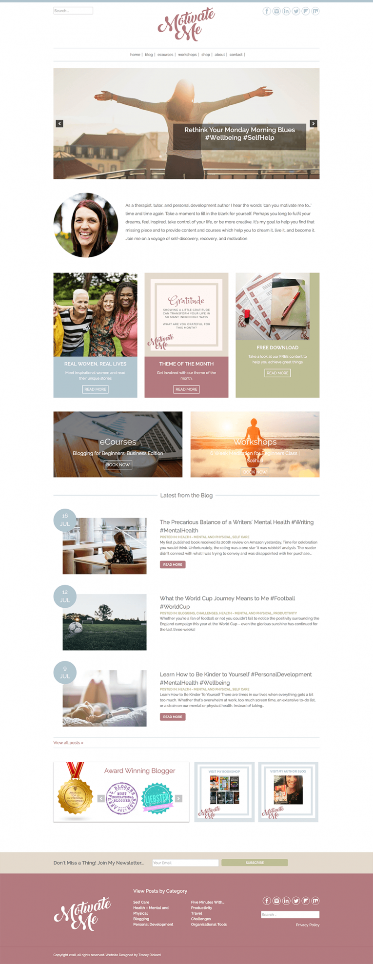 Motivate me Academy Home Page Design