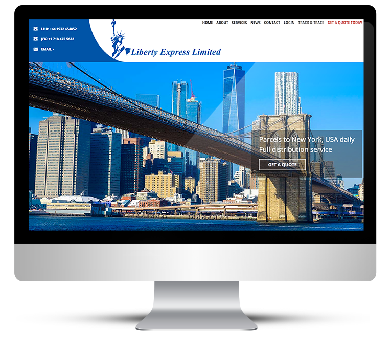 Bespoke Web Design for Liberty Express Couriers