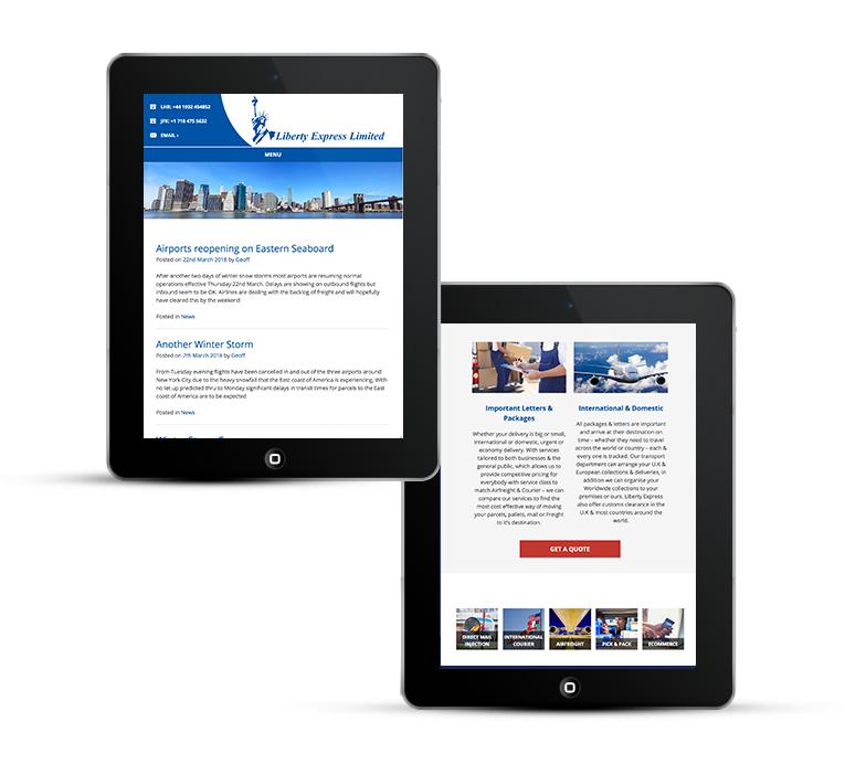 Bespoke WordPress for international couriers