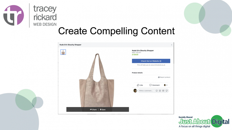 Create compelling content and products