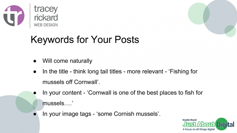Keywords for your posts