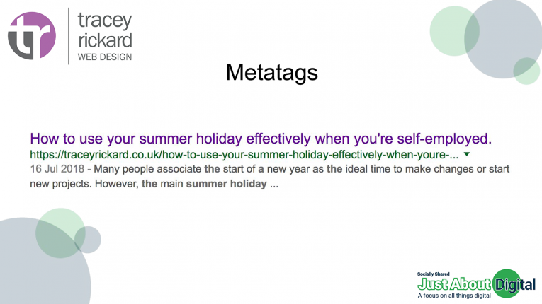 Maximise your metatags