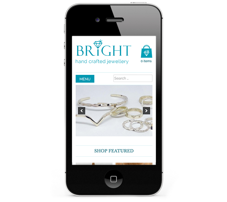 Bright Jewellery Responsive Web Design iPhone and SmartPhone