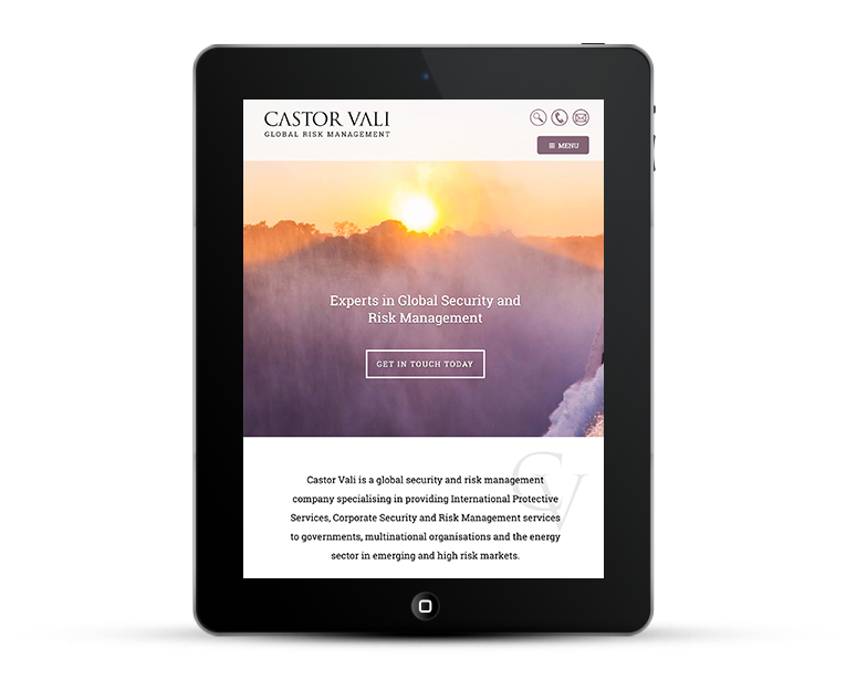 Castor Vali responsive design tablets