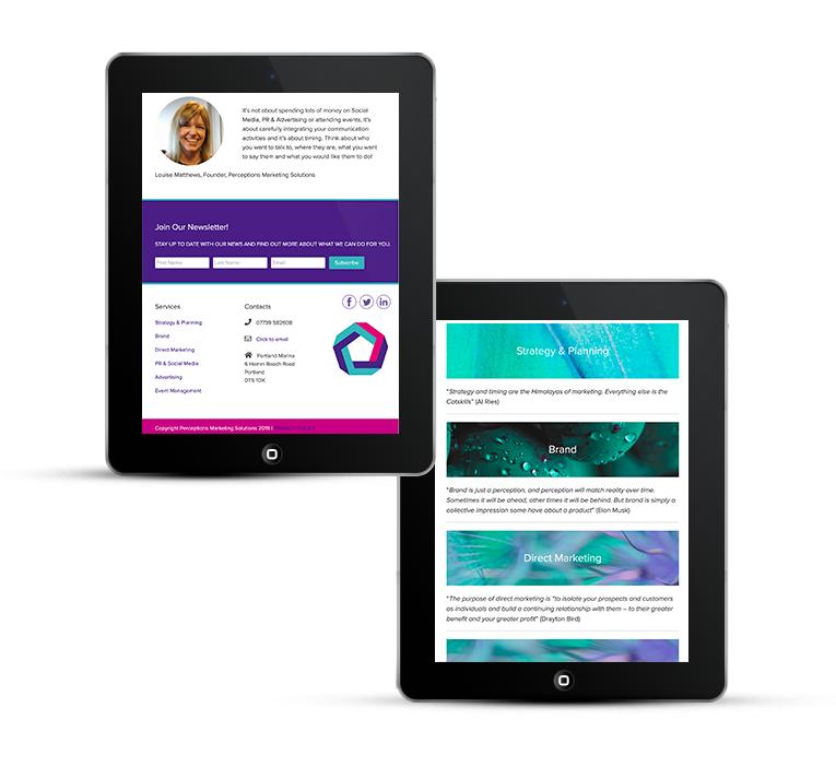 Beautiful web design for Dorset Marketing Company