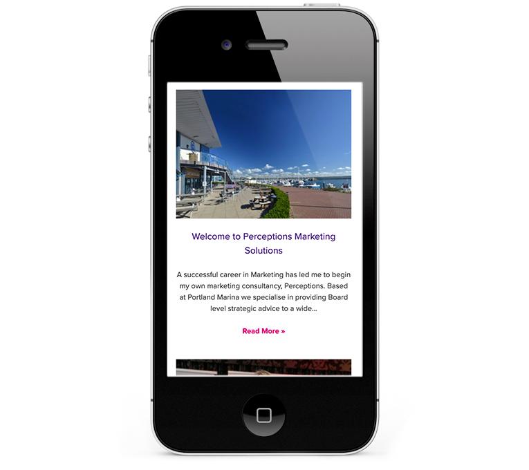 Bespoke web design on WordPress for Marketing Company