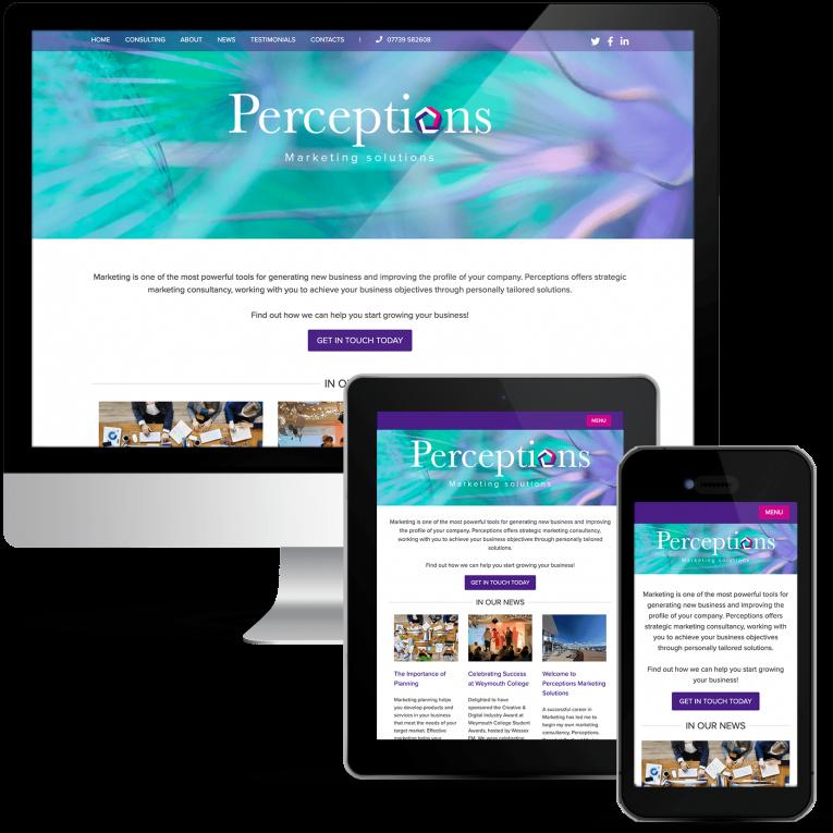 Perceptions marketing solutions website