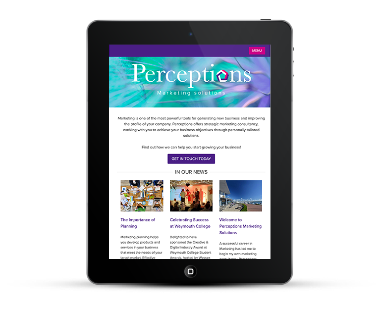 Perceptions Marketing responsive web design iPad