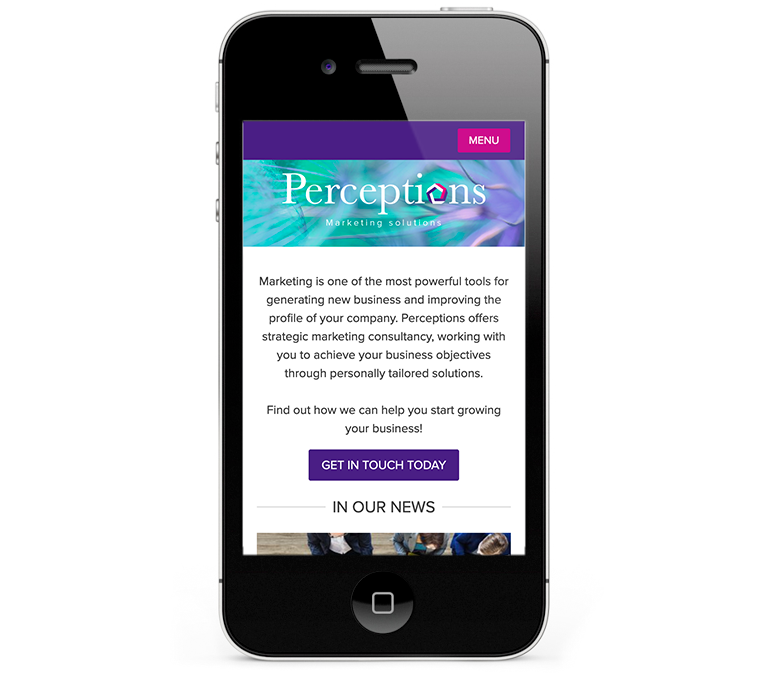 Perceptions Marketing responsive web design iPhone