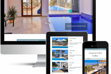 Beautiful web design for Viewpoint Villas in Kalkan