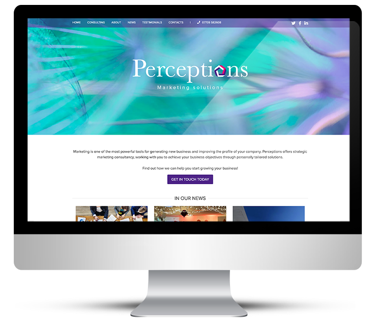 WordPress design for Perceptions Marketing Solutions