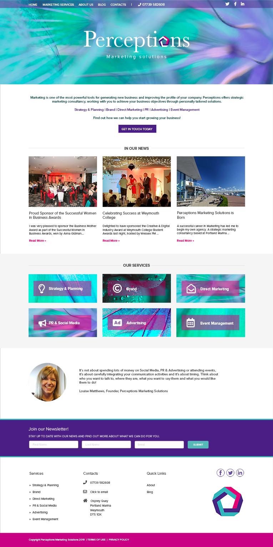 Perceptions Marketing Solutions, Bespoke Website Design