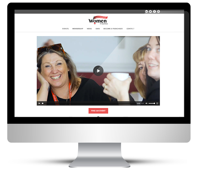 Bepoke website design for SWIB Women in Business