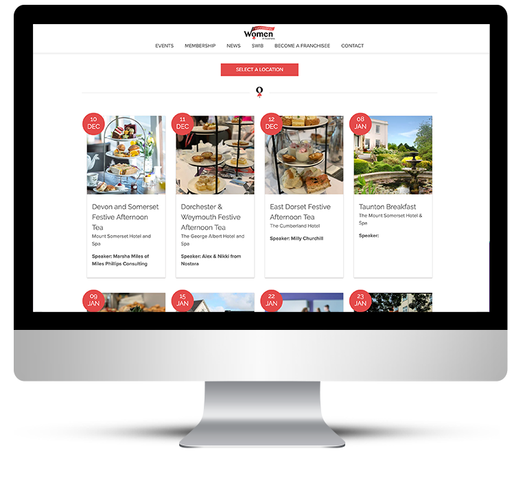 SWIB WordPress website desktop view