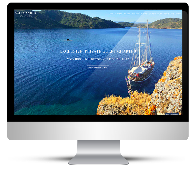 Beautiful website design for Salamander Voyages