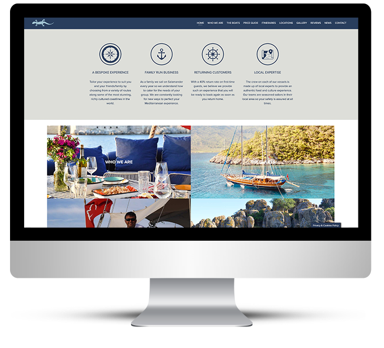 Bespoke WordPress Design for Salamander Voyages