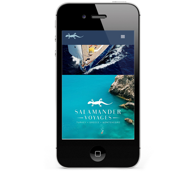 Gorgeous website design for iPhone and smartphones