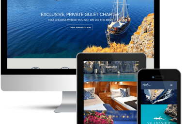 Website Design for Salamander Voyages Private Yacht Charter