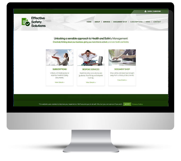 Health & Safety Website Design
