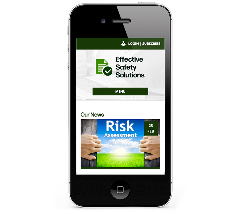 Health and Safety iPhone Web Design