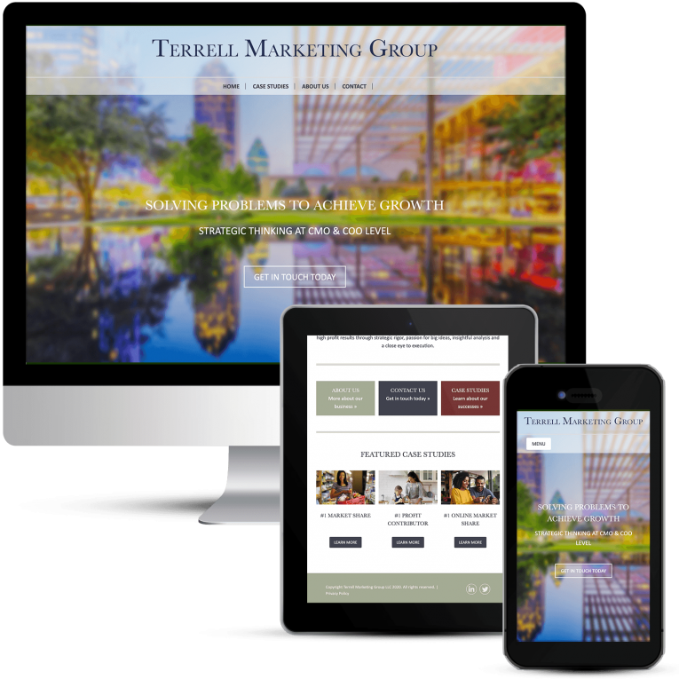 Terrell Marketing Group Website Design