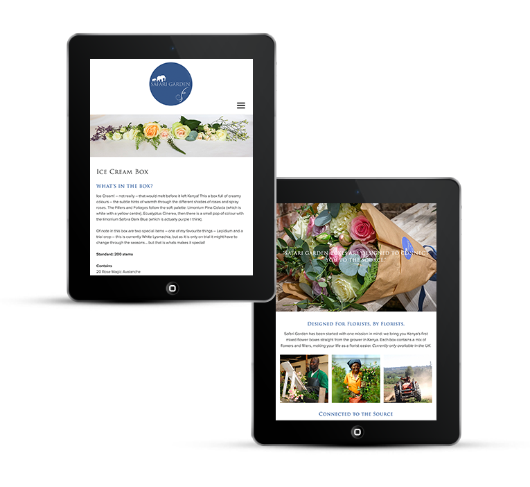 Bespoke WordPress Design for flower distributor