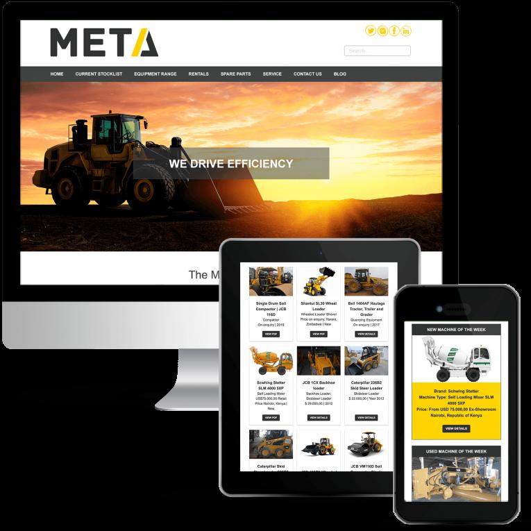 META Group Africa Machinery Sales Web Design