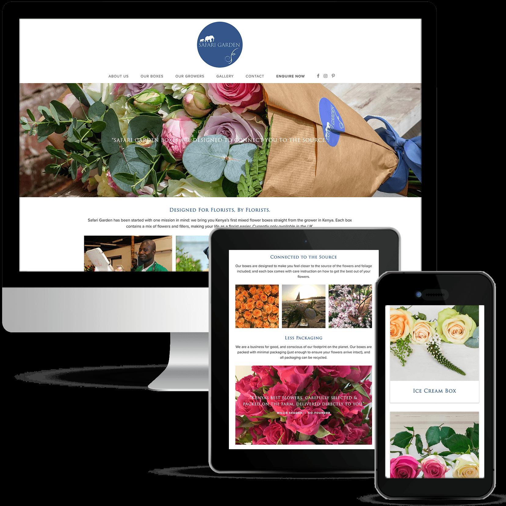 Safari Garden Showcase Web Design