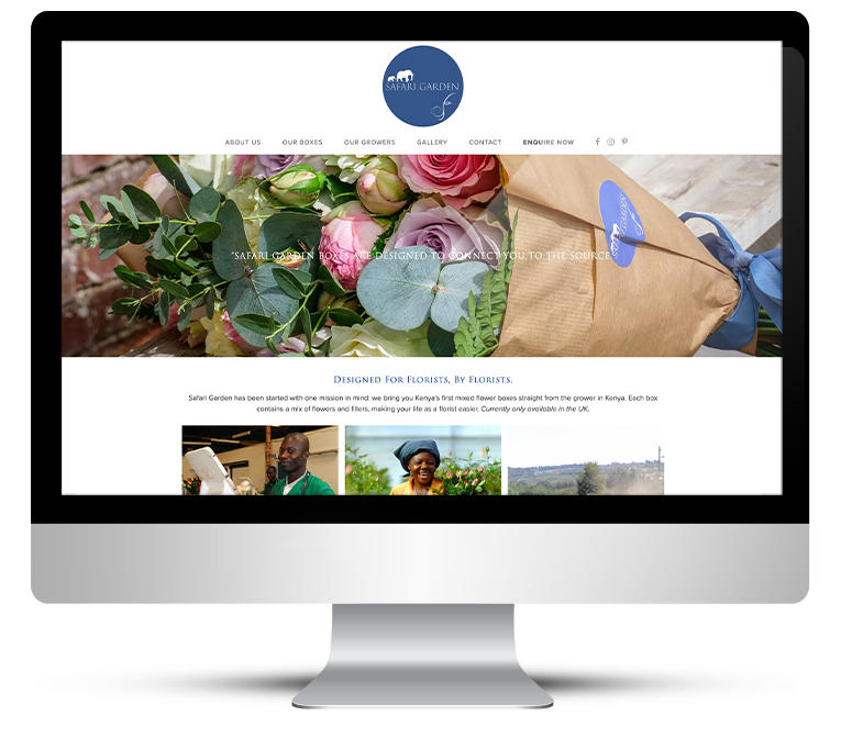 Showcase Web Design for Safari Garden