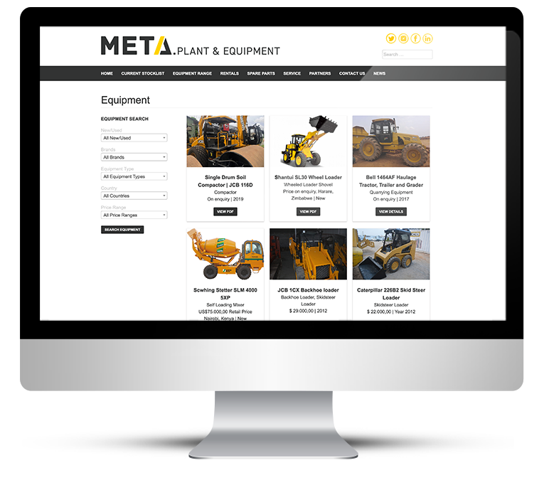 Website Design – heavy plant and machinery sales