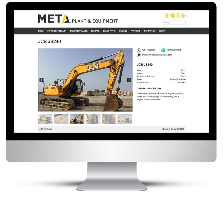 web design – heavy plant equipment listings