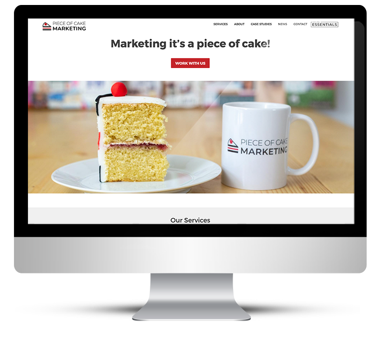 Bespoke WordPress for Piece of Cake Marketing