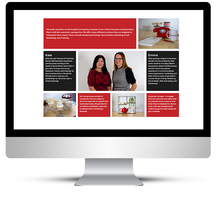Showcase Web Design for Marketing Agency