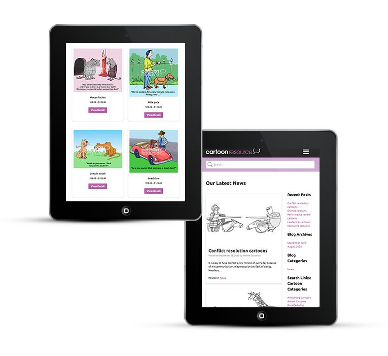 Beautiful web design for Cartoon Resource