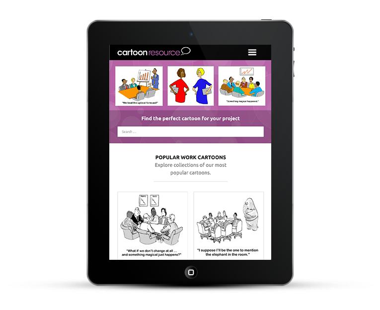 Cartoon Resource Responsive Web Design for IPad and Smartphones