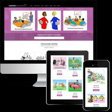 Cartoon Resource Custom WordPress Design