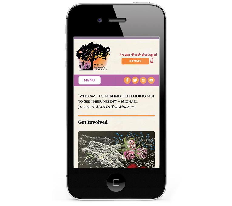 A charity website for freelance web designer in Dorset UK