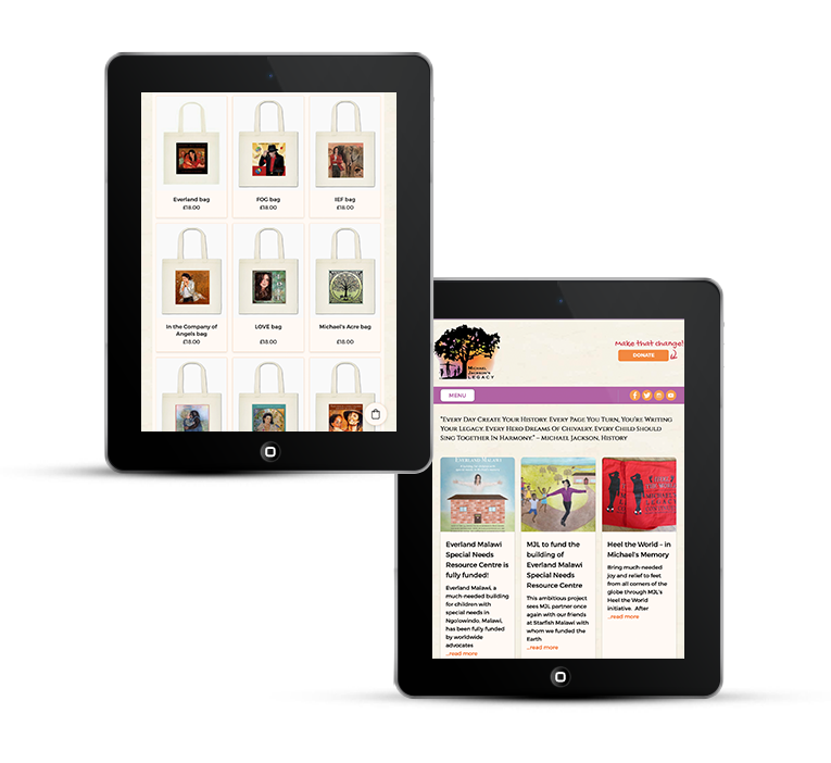A mobile responsive web design for a charity