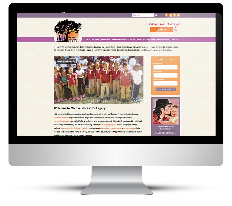 Bespoke Web Design for Michael Jacksons Legacy