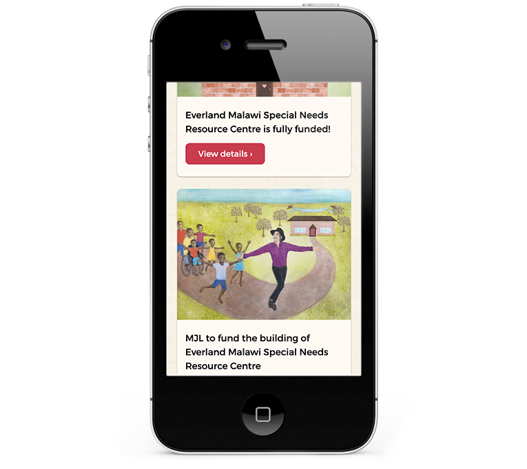 Designed for a charity for smartphones